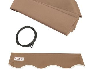 AlEKO 20 x10  Retractable Awning Fabric Replacement  Sand Color