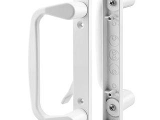 Prime line Products C 1178 Sliding Door Handle Set  Decorative  White