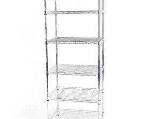60 in  H x 23 23 in  W x 13 39 in  D 6 Shelf Storage Unit  Grey