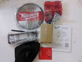 Milwaukee Rapid Charger  10in  60 tooth circular blade  and dust bag