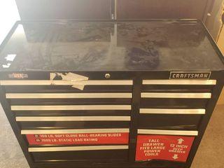 Craftsman 2000 series 10 drawer Steele Tool Cabinet 41 w x 37 5 in H x 18 l