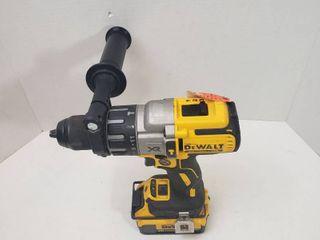 DEWAlT 20 Volt MAX XR lithium Ion Cordless 1 2 in  Premium Brushless Hammer Drill