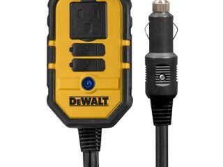 dewalt dxaepi140 140w power inverter  12v dc to 120v ac power outlet with dual usb ports