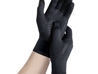 Copper Fit Guardwell Hand Protector Gloves   Black l Xl