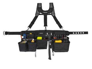 Husky 17 Pocket Black Framer s Tool Belt with Suspenders