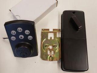 Use Yale Security Yrd110 nr 619 Keyless Push Button Deadbolt In Satin Nickel