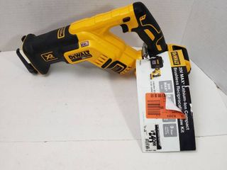 DEWAlT 20 Volt MAX XR li Ion Brushless Cordless Compact Reciprocating Saw  Tool Only  with 20 Volt MAX 5 0Ah Battery