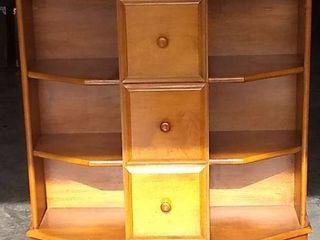 Nice Unige Wooden 3 Drawer 6 Shelf Piece In Good Condition