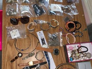 large lot of Miscellaneous Jewelry and Tin Jewelry Box