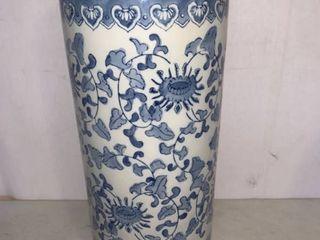 Pretty Blue and White Ceramic Umbrella Stand