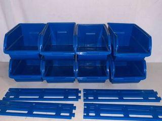 8 Zag Plastic Stackable Storage Bins