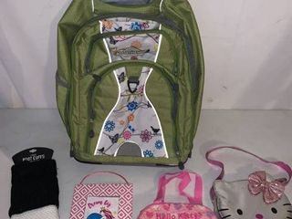 High Sierra Rolling Bag Hello Kitty Purse and Boot Cuffs