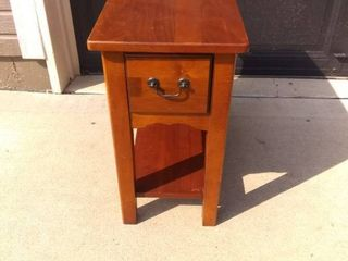Small Wooden Sofa Side Table In Good Condition