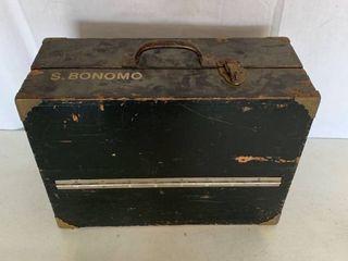 Vintage Wood Tool Box Full of Tools
