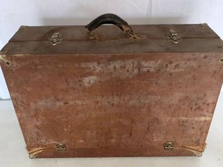 Vintage Wood Tool Chest Tools Included