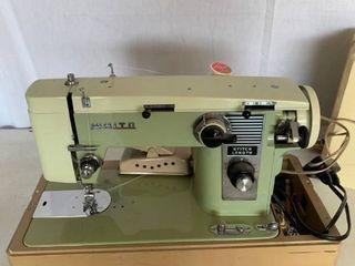 Vintage Green White Brand Seeing Machine Works