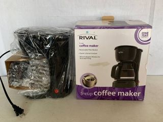 Rival 5 Cup Coffee Maker