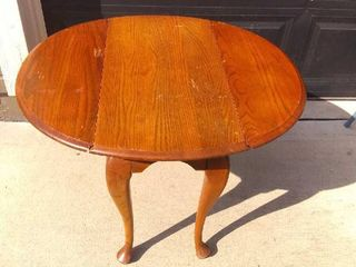 Nice Wooden Folding Side lunch Table In Fair Condition