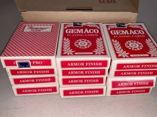 12 Red Used Decks of Cards From Flamingo Hilton Casino