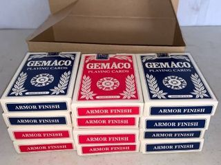 6 Blue and 6 Red Used Decks of Cards From Flamingo Hilton Casino