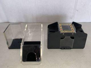 Card Shuffler and 8 Deck Blackjack Dealer Card Holder