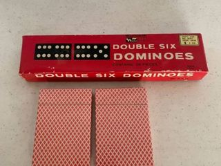 Two Decks Of Cards and Set of Double Six Dominoes