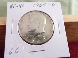 1964 D KENNEDY HAlF EF40