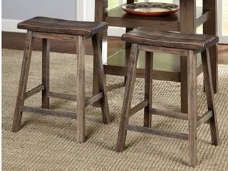 Marney Saddle Stool  Set of 2  Multiple Colors