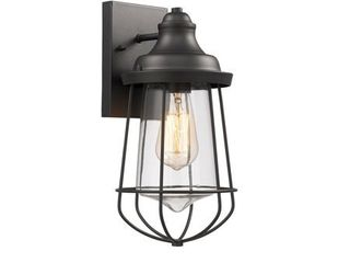 Transitional 1 light Textured Black Outdoor Wall Sconce  Retail 75 48