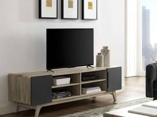 Tread 70  Media Console TV Stand in Natural Gray