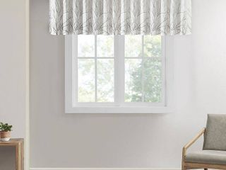 Madison Park Eliza Faux Silk Embroidered Window Valance   50  x 18