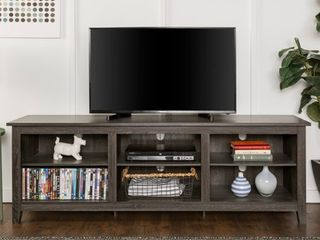 Copper Grove Beaverhead 70 inch Charcoal TV Stand Console  Damaged See Pictures  Retail 249 99