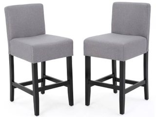 lopez 26 inch Fabric Counter Stool  Set of 2  by Christopher Knight Home   26  Retail 184 97