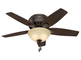 Hunter 42  Newsome Premier Bronze Ceiling Fan with light Kit and Pull Chain