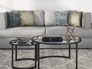 Mitera Round Nesting Coffee Table  large Table Top Only  Retail 188 76