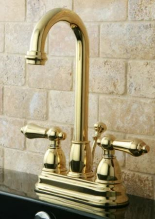 Polished Brass High Arc Bathroom Faucet  Retail 97 99