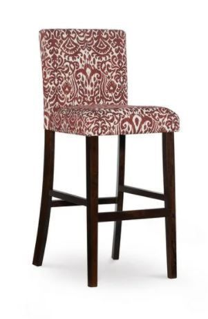 Copper Grove Edinet Damask Print Fabric Upholstered Bar Stool  Retail 111 49