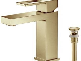 lead Free Solid Brass Single Handle Bathroom Vanity Sink Faucet with Water Hose  Brushed Gold  Retail 197 49