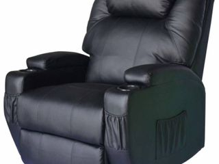 HomCom PU leather Recliner Chair with Heat and Massage   Slight Damage On left Side See Pictures  Retail 571 99