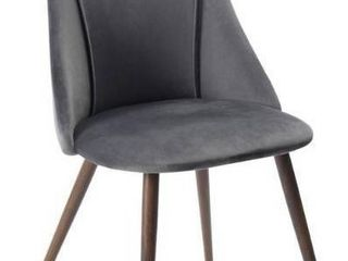 FurnitureR Smeg Grey Upholstered Dining Chair  1 Chair