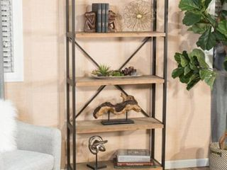 Winsten 4 Shelf Firwood Display Bookcase by Christopher Knight Home   34 25  W x 13 50  D x 68 70  H  Retail 212 49