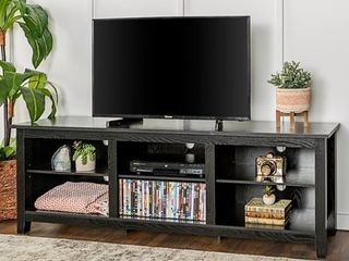 Copper Grove Beaverhead 70 inch Black TV Stand Console   Damaged See Pictures    Retail 244 00