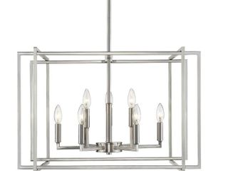 Strick  amp  Bolton Norwood 2 Tone Steel Cage 9 light Chandelier  Retail 363 49