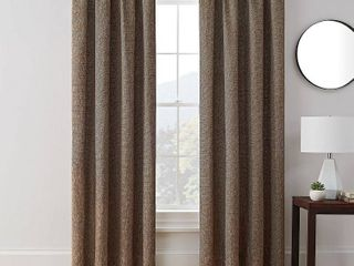 Brookstone Troy 100 Percent Blackout Window Curtain 95  Panel Pair  Brown
