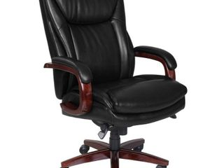 Big and Tall Edmonton Executive Bonded leather Office Chair Black   la Z Boy