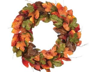 large Fall Artificial leaf Wreath  large 25 36