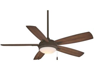 lun Aire With 54  led Ceiling Fan in Oil Rubbed Bronze Finish w  Dark Pine Blades by Minka Aire  Retail 199 95