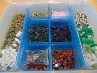 Stone Beads   Container Full
