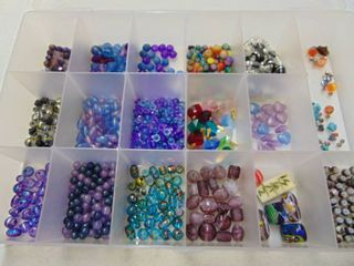 Container Full of Miscellaneous Beads