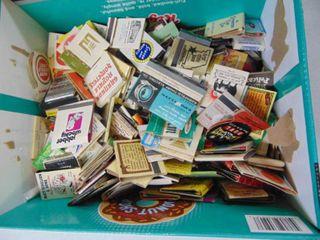Box full of Vintage Matchbooks